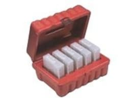 Perm-A-Store Turtle Case, DLT,  5 Tape Capacity, Red, DLT5, 5197199, Media Storage Cases