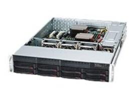 Supermicro SuperChassis, 2U, EATX, 8x3.5 SAS SATA HS, 7xSlots, 740W RPS, Black, CSE-825TQ-R740LPB, 13737731, Cases - Systems/Servers