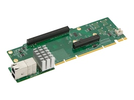 Supermicro 2U Ultra Riser 2-port 10GBase-T 4 NVME, AOC-2UR8N4-I2XT, 32482622, Network Adapters & NICs