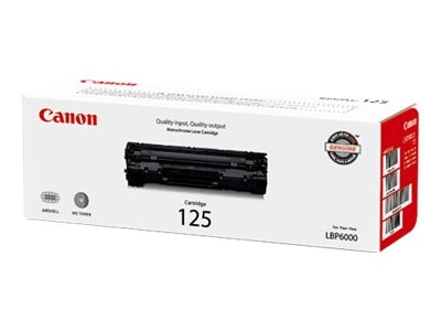 Canon Black Type 125 Toner Cartridge, 3484B001, 12171034, Toner and Imaging Components - OEM