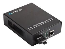 Axiom SC 1000BASE-T POE+ (PSE) to 1000BASE-LX Media Converter, MC-POE332-T2-S3S10-AX, 38259270, PoE Accessories