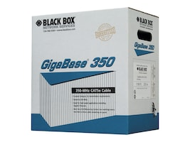Black Box GigaBase 350MHz Cat5e Bulk Cable, Pull Box, Blue, 1000ft, EYN851A-PB-1000, 9133213, Cables