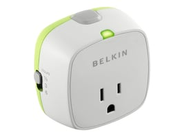Belkin Conserve Socket Power Timer (White Box), F7C009Q, 11956008, Power Strips