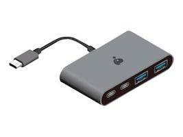 IOGEAR USB-C 10G 4-Port Hub w  100W Power Delivery 3.0 Pass-Through, GUH3C22P, 35681168, USB & Firewire Hubs