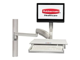 Rubbermaid Fluid ULT Arm Wall Mounted Workstation, 1951971, 31487190, Wall Stations
