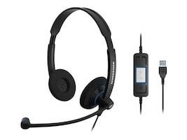 Sennheiser SC 60 Dual-Sided USB Headset, 504549, 16161327, Headsets (w/ microphone)