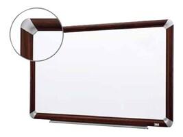 3M Melamine 6x24 Dry Erase Board, Mahogany Finish Frame, M3624FMY, 11756567, Whiteboards
