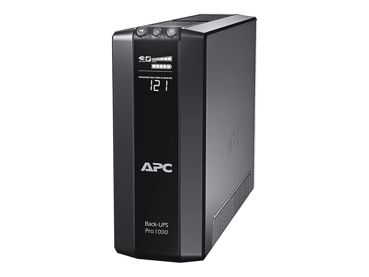 APC Back-UPS Pro 1000VA 600W 120V UPS (8) Outlets, Energy Saving, BR1000G, 11264028, Battery Backup/UPS