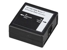 Black Box Ethernet Data Isolator, 10Base-T 100Base-TX 1000Base-T, SP427A, 12405451, Surge Suppressors