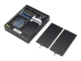 Shuttle Barebones, Desktop USFF Slim Celeron DC 1037U 1.8GHz Max.8GB DDR3 1x2.5 Bay 65W Fanless NoOS, Black, DS437T, 17535466, Barebones Systems