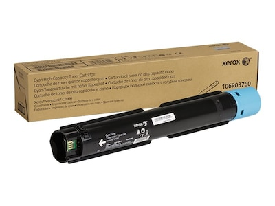 Xerox Cyan Genuine High Capacity Toner Cartridge for the VersaLink C7000, 106R03760, 34167597, Toner and Imaging Components - OEM