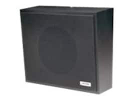 Valcom One-Way Amplified Wall Speaker - Black, V-1016-BK, 16450381, Speakers - Audio