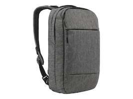 Incipio Incase City Compact Backpack, Heather Black Gunmetal Gray, CL55571, 32620976, Carrying Cases - Notebook