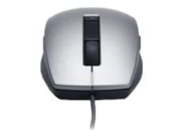 Dell Laser Scroll USB 6-Button Mouse, Silver Black, 331-5076, 33391693, Mice & Cursor Control Devices