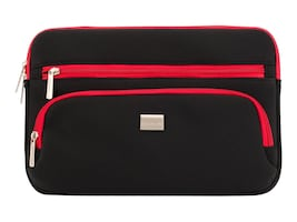 Griffin Chromebook Carry Case, Up to 11.6 Diagonal, Black Red, XX40809, 18139764, Carrying Cases - Notebook
