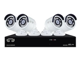 Night Owl 8-Channel H.265 NVR with 2TB HDD and 4x 4MP Cameras, B-4MH5-842, 32191606, Video Capture Hardware