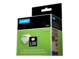 DYMO Address Labels for LabelWriter I - White 1 1 8 x 3 1 2, 30253, 5741, Paper, Labels & Other Print Media