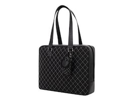 Mobile Edge Monaco Handbag, Nylon, Black White, MEWHBM6, 7100004, Carrying Cases - Other