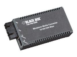 Black Box 10 100 1000TX 1000 LX SC SM 1310 10KM Transceiver, LGC121A-R2, 33057505, Network Transceivers