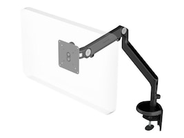 Humanscale M2 Monitor Arm with Clamp and Bolt-Through Mount, Black, M2DB-IND, 17861456, Stands & Mounts - AV