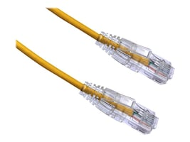 Axiom CAT6 550MHz BENDnFLEX Ultra-Thin UTP Snagless Patch Cable, Yellow, 6ft, C6BFSB-Y6-AX, 34602675, Cables