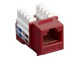 Black Box Cat6 Keystone Jack, Red, 10-Pack, CAT6J-RD-10PAK, 12497421, Premise Wiring Equipment