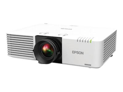 Epson PowerLite L610U WUXGA 3LCD Projector, 6000 Lumens, White, V11H901020, 35542467, Projectors