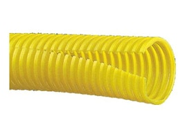 Panduit Corrugated Split Fiber Cover Duct, Yellow, 100ft, CLT100F-C4, 9633891, Premise Wiring Equipment