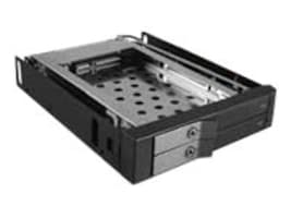 Vantec EZ Swap EVO Dual Bay 2.5 SATA SSD  HDD Removable Rack - Black, MRK-225S6-BK, 17433355, Drive Mounting Hardware
