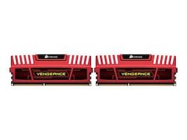 Corsair 16GB (2x8GB) Vengeance 240-pin PC3-12800 1600MHz DDR3 DIMM Kit, Red, CMZ16GX3M2A1600C10R, 15912125, Memory