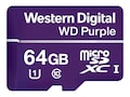 WD 64GB Purple Surveillance microSDXC Card, Class 10, WDD064G1P0A, 36749540, Memory - Flash