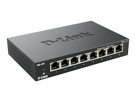 D-Link 8-Port Gigabit Ethernet Switch, Metal Chassis, DGS-108, 6047037, Network Switches