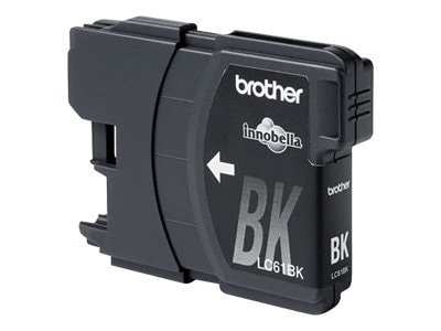 Brother Black Innobella LC61BK Standard Yield Ink Cartridge, LC61BK, 8688807, Ink Cartridges & Ink Refill Kits - OEM