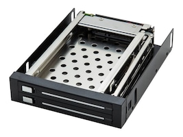 Syba 2.5 SATA 3Gb s Removable Mobile Rack for Dual Hard Drives, SI-MRA25030, 16014757, Drive Mounting Hardware