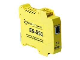 Brainboxes Industroal Ethernet 1-Port RS232 RS422 RS485, ES-551, 15242619, Network Adapters & NICs