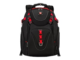 Wenger Maxxum 16 Computer Backpack, Black Red, 602245, 34840577, Carrying Cases - Notebook