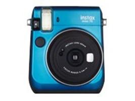 Fujifilm Instax Mini 70 Instant Film Camera, Island Blue, 16496081, 30870630, Cameras - Film