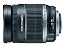 Canon EF-S Standard Zoom Lens, 18-200mm, F 3.5-5.6 IS, 2752B002, 9841471, Camera & Camcorder Lenses & Filters