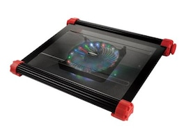 Enermax Aeolus Vegas Cooling Pad for up to 17 Notebook with 4-Color LED, Black, CP007, 16348950, Cooling Systems/Fans