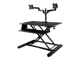 StarTech.com Dual Monitor Sit Stand Desk Converter - 35in Wide Work Surface, BNDSTSLGDUAL, 37662500, Furniture - Miscellaneous