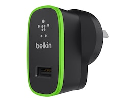Belkin Home Charger 5V 2.1 Amp, Black w  Green Accent, F8J052TTBLK, 15602784, Battery Chargers