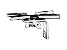 Draper T-Bar Twist Clips for Star, Luma, and V Screens, 227004, 7315056, Stands & Mounts - AV