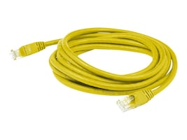 AddOn CAT6A 24AWG Molded Snagless UTP Patch Cable, Yellow, 1ft, ADD-1FCAT6A-YLW, 31759669, Cables