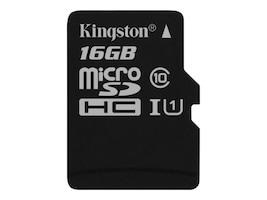Kingston 16GB UHS-I MicroSDHC Flash Memory Card, Class 10, SDC10G2/16GBSP, 30731285, Memory - Flash