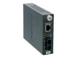TRENDnet 10 100BaseTX to 100BaseFX Single-Mode Fiber Converter (30Km) with SC Type Connector, TFC-110S30, 4923312, Network Transceivers