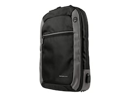 Max Cases MAX Backpack for 15 Notebook & 10 Tablet, Black Gray, MC-BP-GEN-GRY, 34963201, Carrying Cases - Notebook