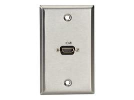 Black Box A V Single-Gang Stainless Wallplate, WP831, 30969058, Premise Wiring Equipment
