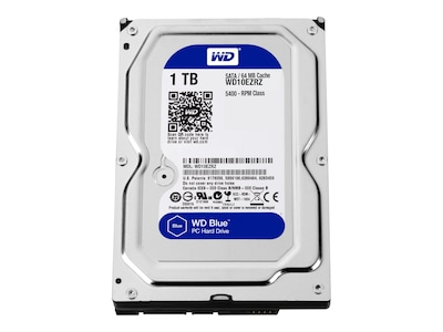 WD 1TB WD Blue SATA 6Gb s 5.4K RPM 3.5 Internal Hard Drive, WD10EZRZ, 30005574, Hard Drives - Internal