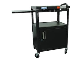 Buhl AV Height Adjustable AV Media Cart, Black, MPPS4226E-5, 32967873, Computer Carts