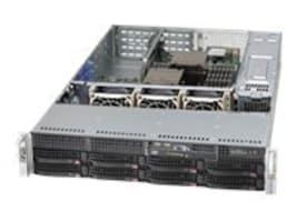 Supermicro Chassis, 2U SC825TQ, EATX, 8x3.5 SAS SATA HS, 740W RPS, Black, CSE-825TQ-R740WB, 13814337, Cases - Systems/Servers